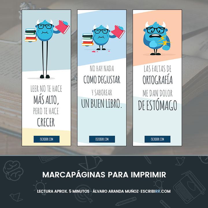 3 Marcapaginas Originales Que Puedes Imprimir Ahora Mismo