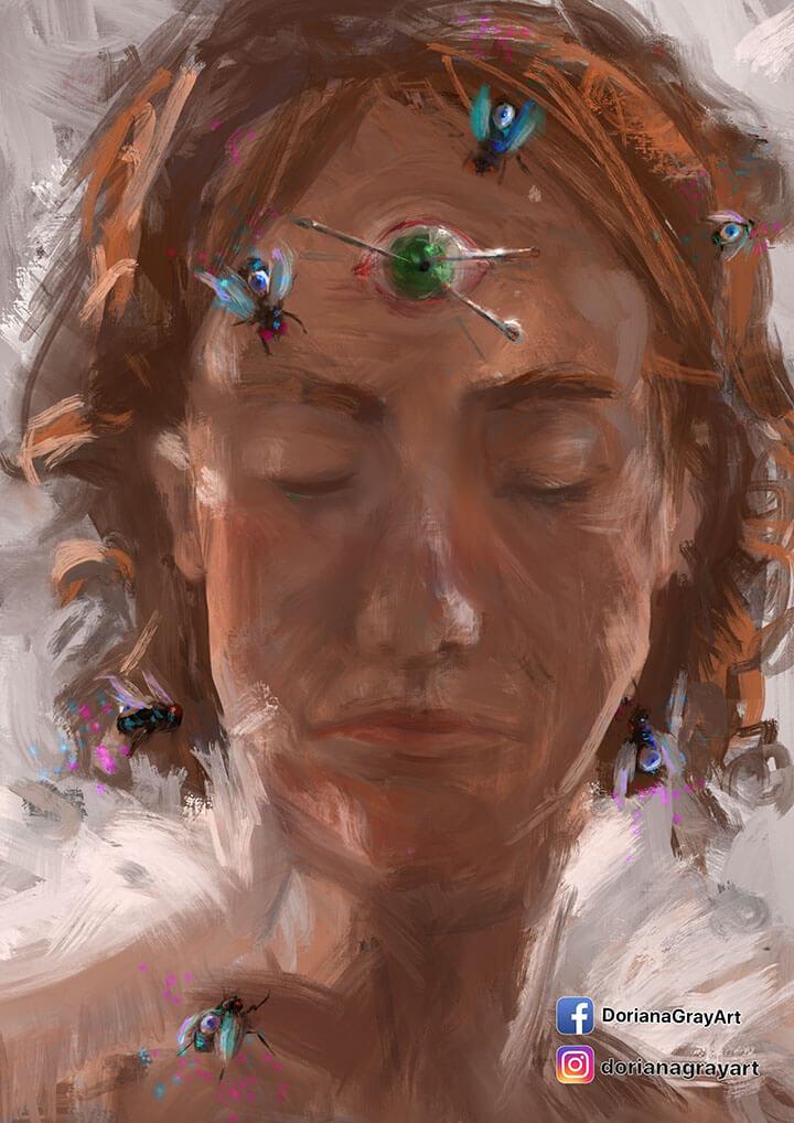 DorianaGrayArt ilustración Oriana