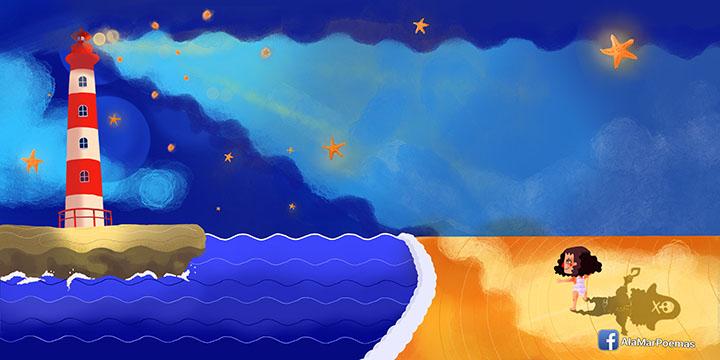 ilustración ala mar oriana laplana